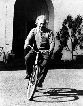 einstein-on-bike